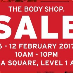 The Body Shop: Sale Event Up to 70% OFF at Novena Square Atrium
