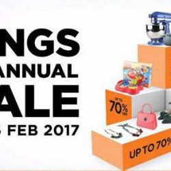 Tangs: The TANGS Annual Sale Up to 70% OFF Selected Brands & Amazing Gifts-with-Purchases!