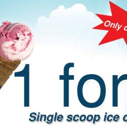 New Zealand Natural Cafe: 1-for-1 Single Scoop Ice Cream at East Coast Outlet!