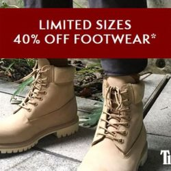 Timberland: Online Exclusive Sale - 40% OFF Footwear +Additional 15% OFF with Coupon Code!