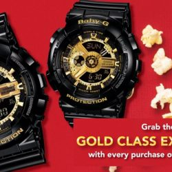 Casio: Purchase any Couple or Lovers' set and Receive a FREE Pair of Gold Class Golden Village movie Tickets (worth $78)