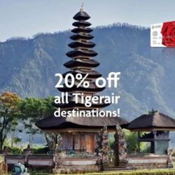 Tigerair: Exclusive 20% OFF All Destinations with UOB Cards!