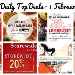 BQ's Daily Top Deals: Le Creuset Robinsons CNY Sale 50% OFF, MPH Storewide 20% OFF, T.M.Lewin End Season Sale, 20% OFF at Popeyes, Chope 1-for-1 Exclusives & More!