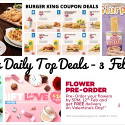 BQ's Daily Top Deals: Burger King Coupons, FREE Side & Drink at Pizza Hut, Toast Box $1 Tea Series, NEW Nissin Cup Noodles Potato Chips, Lazada Valentine's Day Mega Sale & More!