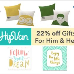 HipVan: Coupon Code for 22% OFF Gifts for Him & Her
