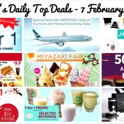 BQ's Daily Top Deals: 50% OFF Set Menus at Ginza Bairin, KFC Coupons, 1-for-1 Ice-Cream Scoop, Cathay Pacific Exclusive DBS/POSB Card Fares, 1-for-1 Beverage at Brew Maison & More!