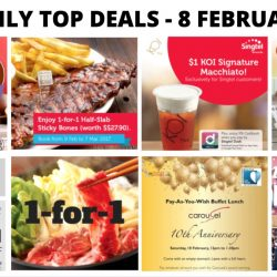 BQ's Daily Top Deals: 1-for-1 Coupons at The Manhattan FISH MARKET, 1-for-1 Ice-Skating at The Rink 1-for-1 Shabu Shabu Buffet at Suki-Ya, 1-for-1 Half-Slab Sticky Bones at Morganfield's, $1 KOI Signature Macchiato & More!