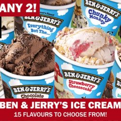 Qoo10: 1-for-1 Ben & Jerry's Ice Cream at $14.90!