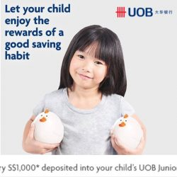UOB: Receive S$8 Cash Credit for every S$1,000 Deposited into Junior Savers Account