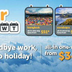 Tigerair: Midweek Sale Fares All-in One-way from SGD34 to Penang, Phuket, Bangkok, Hong Kong & More!