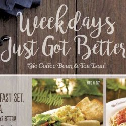The Coffee Bean & Leaf: Coupons for 50% OFF 2nd All Day Breakfast Set, Sandwich or Pasta on Weekdays!