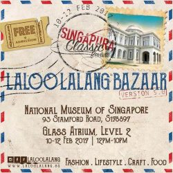 [Kane Mochi Singapore] Visit the National Museum of Singapore this weekend and join us at the #SingapuraClassicRevival flea market organized by @laloolalang featuring