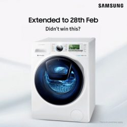 [Samsung Singapore] Due to overwhelming response, we've extended registration to 28 February with 3x Samsung Addwash™ Combo Washing Machines to be