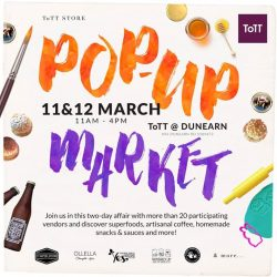 [ToTT Store] SAVE THE DATE! ToTT's annual Pop Up Market will be back on 11 & 12 March. More details to come –