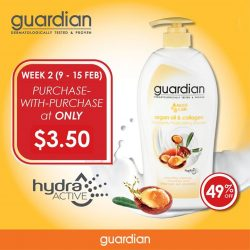 [Guardian Pharmacy] Stretch your dollar and save more when you buy more! Get the GUARDIAN Moist Care Shower Cream (Argan & Collagen) at