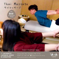 [Yunomori Onsen and Spa] Tired from all the CNY visiting and partying? Rejuvenate those tired muscles with our Signature Thai massage @ $118/120 mins  ($