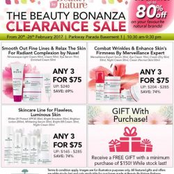 [Beauty By Nature] Your Favourite Nuxe Products on Sale at The Beauty Bonanza Clearance Sale happening on the 20th to 26th February 2017