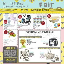 [Isetan] We want the best for your child too! Enjoy these special and exclusive weekend deals from 17 - 19 Feb at