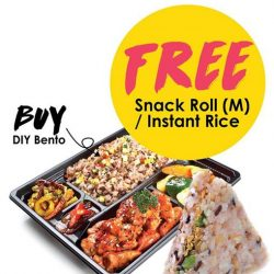 [QQ Rise] Get Your free Snack Roll (M) or Instant Rice when purchase DIY Bento at Hillion Mall !