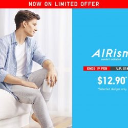 [Uniqlo Singapore] 10% lighter and 1.2 times more breathable, our men's AIRism Innerwear keeps you feeling fresh even on sunny