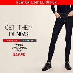 [Uniqlo Singapore] Our Limited Offer on Ultra Stretch Jeans ends today, so get them now!Shop more Limited Offers: http://s.uniqlo.