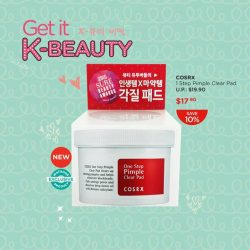 [Watsons Singapore] Woke up with a bad breakout? Have no fear, the Korean beauty secret Cosrx is here! This pimple clearing pad