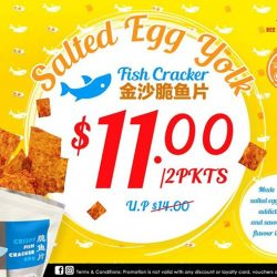 [Bee Cheng Hiang Singapore] Get snacking this weekend with our Salted Egg Yolk Fish Cracker!The perfect combination of our classic Crispy Fish Cracker