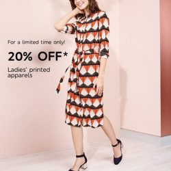 [Marks & Spencer] It's all about the prints this Spring! Enjoy 20% OFF Ladies' printed apparels for a limited time only.Exclusions,