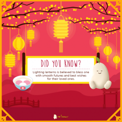 [Mr Bean Singapore] Did you know?Lighting lanterns is believed to bless one with smooth futures and best wishes for their loved ones.