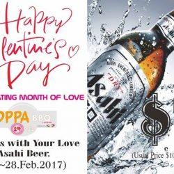 [OPPA KOREAN GRILL BBQ] Month of Love Promotion -Feb.2017 Calling All Beer Lovers