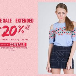 [MOSS] Hurry! Online Extra 20% Off Sale Extended till Tomorrow ( 14 FEB ) 11.59pmEnter code :  to enjoy extra
