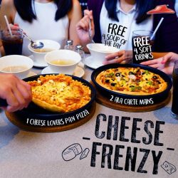 [Pizza Hut Singapore] Share your #CrustCrush and spread the Cheese Frenzy today!Your cheesy feast for a party of 4 includes a regular
