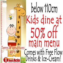 [Marina Square] Looking for a dining option that's kid-friendly? Just Acia is just the place for you! Kids of height