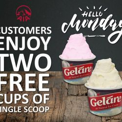 [Gelare Café] Feeling those Monday blues? Beat those feelings with a special treat exclusively from AIA!AIA customers can redeem 2 scoops*