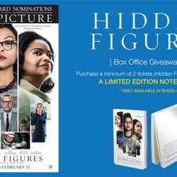 [Filmgarde Cineplex] Box office giveaway! Purchase a minimum of 2 tickets to HIDDEN FIGURES at Filmgarde Bugis+ box office and receive movie