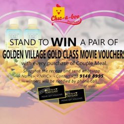 [Chic-a-boo Fried Chicken] Love💘 is still in the air, bring your ❤LOVE❤ one to watch movie for FREE!! Have you whatapps your Couple