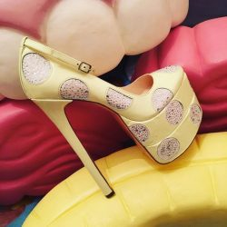 [Kandee] Size 37/38 lemon crystals platform pumps now only £95.00 Email Sales@kandeeshoes.com to purchase 🍋