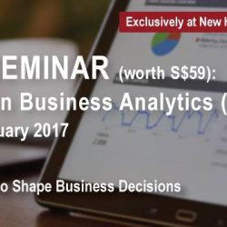 [New Horizon Centre] LESS THAN A WEEK LEFT to Certified in Business Analytics seminar! Sign up for this FREE seminar now to avoid