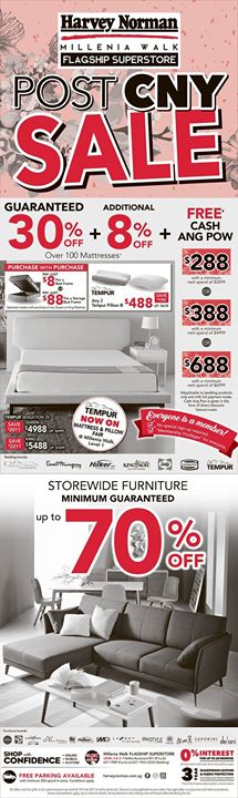 [Harvey Norman] 2-Day Ang Pow Giveaway at Harvey Norman is back by popular demand, with more savings! Enjoy up to 15%