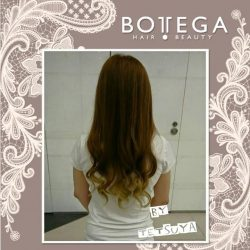 [BOTTEGA hair & beauty ] If you prefer to dip your toe into a hair color trend rather than dye your entire head, ombré is