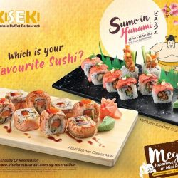 [Kiseki Japanese Buffet Restaurant] Have you been to Kiseki lately? We have added new buffet items to whet your MEGA appetite. Gather a few