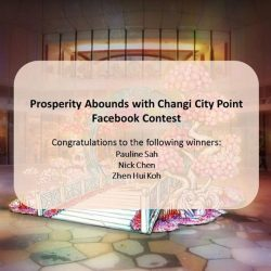 [Changi City Point] Congratulations to the winners of our Prosperity Abounds Facebook Contest! You have won a $100 Changi City Point Gift Card!