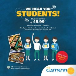 [The Clementi Mall] Great news from Seoul Garden Singapore! Flash your student or senior citizen card and enjoy a dinner out for only $