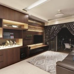 [3D INNOVATIONS DESIGN PTE LTD] Darker tones of wood with even darker tones of the color palate. Both come together seamlessly in the interior.Click