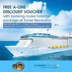 [A-One Claypot House] Get FREE* A-One discount voucher with the booking of cruise holidays package at Travel Revolution from 24 - 26 Feb