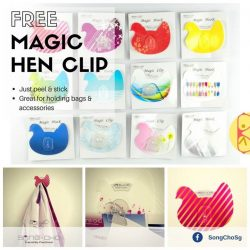 [Song-Cho] FREE Hen-designed clips! No purchase required! 🎁 Yes! We are still celebrating the year of the rooster 🐔 (haa)! Just walk