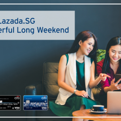 [Citibank ATM] Get greater savings with your Citi Credit Card. From Saturdays to Mondays, enjoy 8% off and free shipping at Lazada.