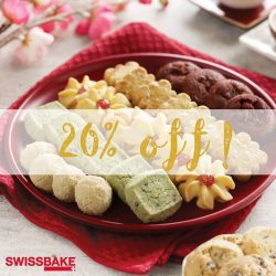 [Swissbake] Last week to get your fix of our exclusive CNY cookies at 20% off! While stocks last.*Promotion valid till