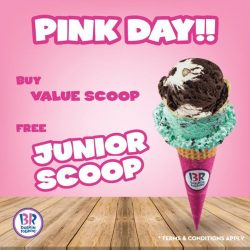 [Baskin Robbins] Treat your loved one today and get free Junior Scoop if you purchase Value Scoop ice cream!