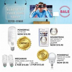 [Home-Fix Singapore] Electrify & Light it up with these Home-Fix Deals!For more February Promotions, visit Home-Fix Website at http://www.